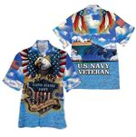 Tropical Summer Aloha Hawaiian Shirt US Navy Veteran HH-DD68
