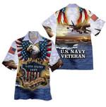 Tropical Summer Aloha Hawaiian Shirt US Navy Veteran HH-DD66