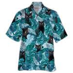 Tropical Summer Aloha Hawaiian Shirt Black Cats HH-DD63
