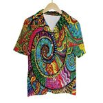 Tropical Summer Aloha Hawaiian Shirt Colorful Tie Dye Hippie