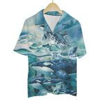 Tropical Summer Aloha Hawaiian Shirt Colorful Animals - Dolphin