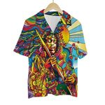 Tropical Summer Aloha Hawaiian Shirt Colorful Hippie