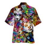 Tropical Summer Aloha Hawaiian Shirt Cat HD-HG29