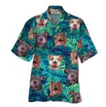 Tropical Summer Aloha Hawaiian Shirt Pitbull