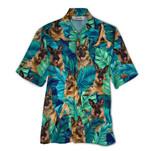 Tropical Summer Aloha Hawaiian Shirt Germen Shepherd