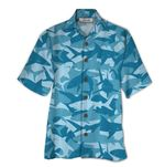 Tropical Summer Aloha Hawaiian Shirt Shark QL-HG1568