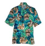 Tropical Summer Aloha Hawaiian Shirt Sloth QL-HG1569