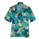 Tropical Summer Aloha Hawaiian Shirt Corgi QL-HG1584