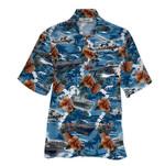 Tropical Summer Aloha Hawaiian Shirt Navy HH-HG319