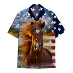 Tropical Summer Aloha Hawaiian Shirt Horse NH-HG02