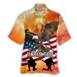Tropical Summer Aloha Hawaiian Shirt Patriotic HC-NQ04