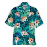 Tropical Summer Aloha Hawaiian Shirt Exotic Cat HC-NQ09