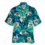 Tropical Summer Aloha Hawaiian Shirt Birman Cat HC-NQ10