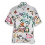 Tropical Summer Aloha Hawaiian Shirt Cat NH-NQ13