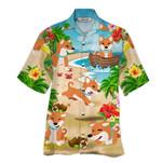 Tropical Summer Aloha Hawaiian Shirt Shiba NH-HG06