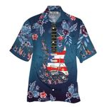 Tropical Summer Aloha Hawaiian Shirt Guitar HC-NH04