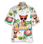 Tropical Summer Aloha Hawaiian Shirt Chihuahua NH-NQ15