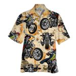 Tropical Summer Aloha Hawaiian Shirt Skull Motorcycle NH-HG08
