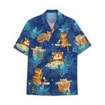 Tropical Summer Aloha Hawaiian Shirt Cat DN-NQ01