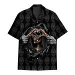 Tropical Summer Aloha Hawaiian Shirt Skull DN-HG30