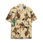 Tropical Summer Aloha Hawaiian Shirt Cowboy Cat HC-NQ16