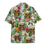 Tropical Summer Aloha Hawaiian Shirt Skull & Bear HC-HG05
