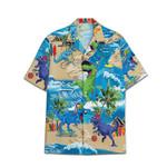Tropical Summer Aloha Hawaiian Shirt Dinosaur DN-NQ02
