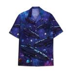 Tropical Summer Aloha Hawaiian Shirt Spaceship DN-NQ03