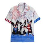 Tropical Summer Aloha Hawaiian Shirt Boston Terrier DN-HG32