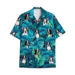Tropical Summer Aloha Hawaiian Shirt Boston Terrier DN-NH02