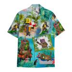 Tropical Summer Aloha Hawaiian Shirt Cat Beer AV-HG02