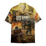 Tropical Summer Aloha Hawaiian Shirt US Army Veteran DN-HG35