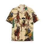 Tropical Summer Aloha Hawaiian Shirt Cowboy Skull HC-NQ22