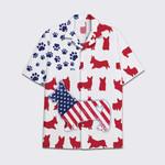 Tropical Summer Aloha Hawaiian Shirt America Corgi Flag AV-NQ02