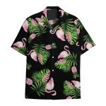 Tropical Summer Aloha Hawaiian Shirt Flamingo AV-HG03
