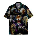 Tropical Summer Aloha Hawaiian Shirt Tiger AV-HG04