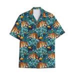 Tropical Summer Aloha Hawaiian Shirt Tiger AV-NH03