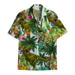 Tropical Summer Aloha Hawaiian Shirt Dinosaur AV-HG05