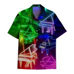 Tropical Summer Aloha Hawaiian Shirt Piano HC-HG09