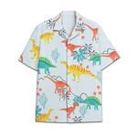Tropical Summer Aloha Hawaiian Shirt Dinosaur AV-NQ03