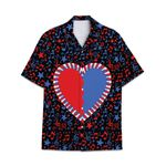Tropical Summer Aloha Hawaiian Shirt Piano Heart HC-NH11