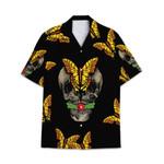 Tropical Summer Aloha Hawaiian Shirt Butterfly Skull HC-NH12