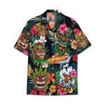 Tropical Summer Aloha Hawaiian Shirt Hawaiian Tiki AV-NQ04