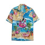 Tropical Summer Aloha Hawaiian Shirt Flamingo HC-NQ31
