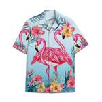 Tropical Summer Aloha Hawaiian Shirt Flamingo HC-NQ33