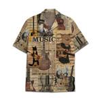 Tropical Summer Aloha Hawaiian Shirt Guitar DN-NQ08