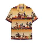 Tropical Summer Aloha Hawaiian Shirt Team Roping DN-NQ09