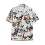 Tropical Summer Aloha Hawaiian Shirt Team Roping DN-NQ10