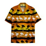 Tropical Summer Aloha Hawaiian Shirt Flamingo HC-HG13