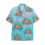 Tropical Summer Aloha Hawaiian Shirt Flamingo HC-NQ34